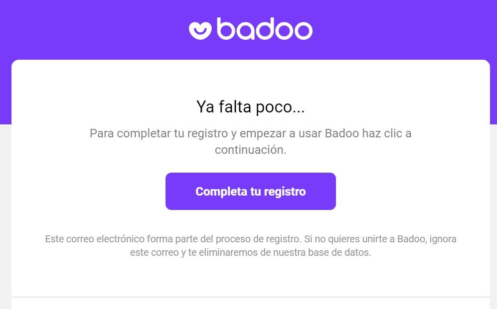 verificar email badoo